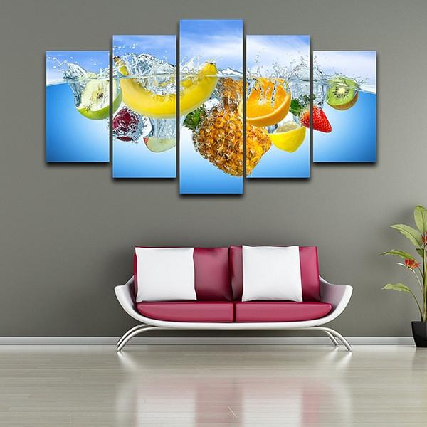 Compre HD Impreso Wall Art Picture 5 Panel Sin Marco Pintura Fruta Para  Comedor Hogar Decoración De Pared Arte Cartel A $17.09 Del Tian7777777 | ...