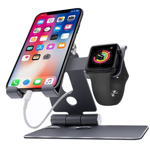 Phone Stand,IWatch Stand,Foldable Holder,Adjustable Multi Angle holder for iPhone iWatch Smartphone iPad Samsung Tab Desk Accessories