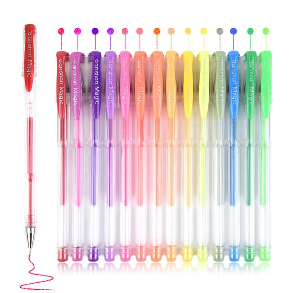 Gel Stylo 200 Pcs Ensemble De Stylo Gel Recharges Métallique Pastel Neon Glitter Classique Croquis Dessin Couleur Stylo Scolaire École Marqueur Marqueur Pour Enfants Cadeau