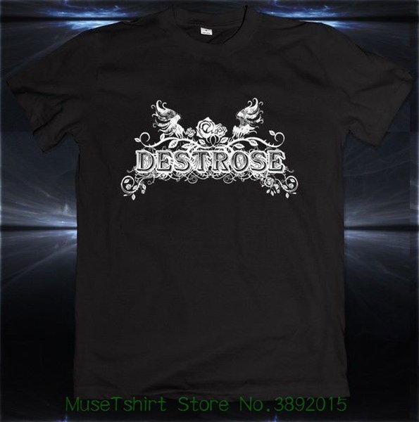 Destrose Heavy Metal Inglês Banda de Rock Disqualia T-shirt Tee Tamanho S M L Xl 2xl Mangas de Algodão T-shirt Moda