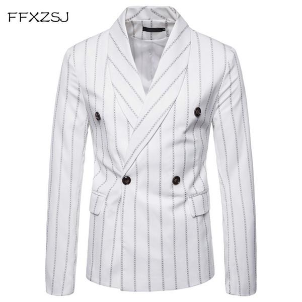 FFXZSJ 2018 Blazer Hommes Haut De Gamme Loisirs Business Blazer Hommes Costume De Fête Costume Veste Mâle Slim Fit Élégant Blazers Pour Hommes