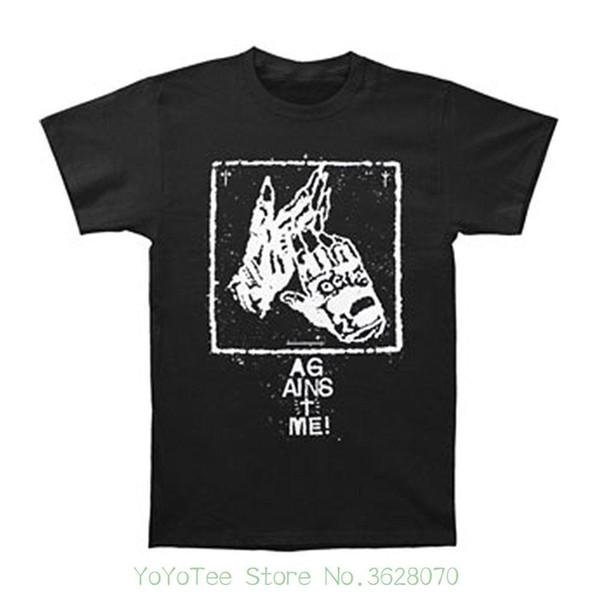 Summer Short Sleeves T-shirt Fashion Against Me Men' ; S Clapping Gloves T-shirt Black