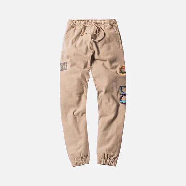 18FW KITH X CHAP Pants Long Pants Jogger Cotton Pants Trousers Fashion Men Women Couple Fashion Sport Sweatpants HFLSKZ073