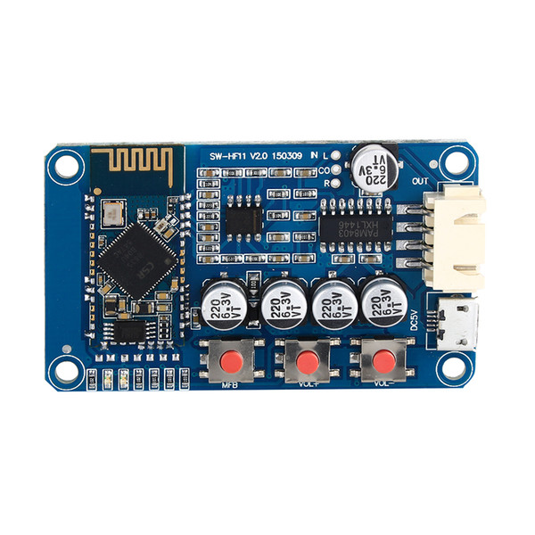 Freeshipping Bluetooth 4.0 Receiver Stereo Audio Amplifier Board Module Mini USB Digital Amplifier Small Speaker DC 5V Mini Amplifier