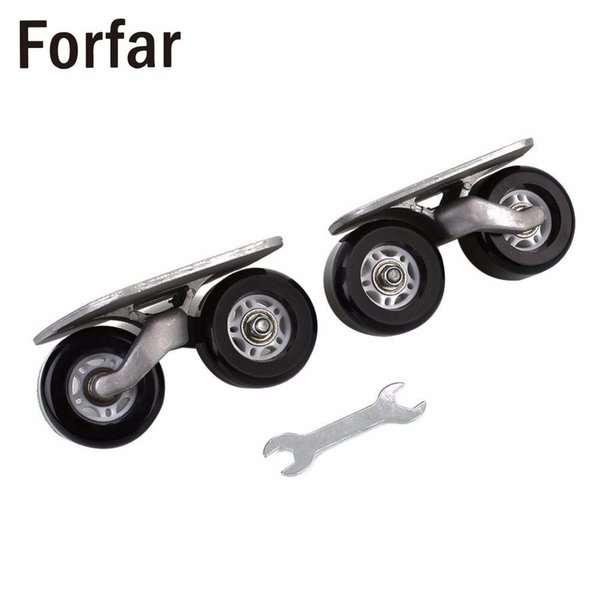 Forfar 1Pair Tablero de deriva portátil para Freeline Roller Road Driftboard Skates Patín antideslizante Monopatín Deportes