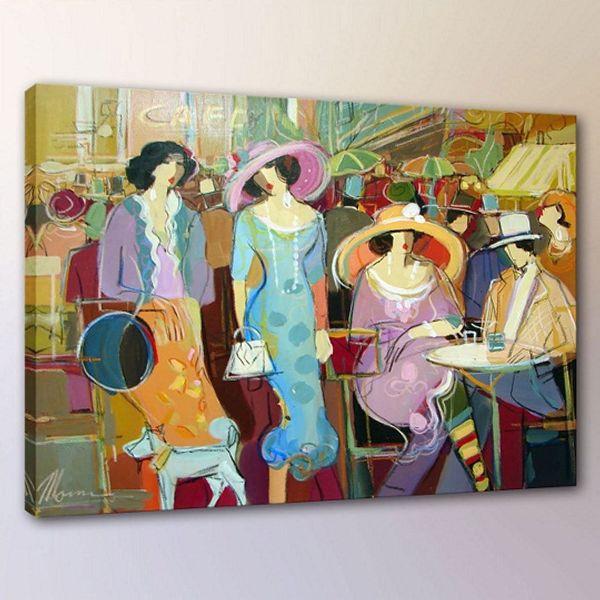 Itzchak Tarkay Woman Lady Cafe Portraits Art,Handpainted /HD Print Wall Art Oil Painting On Canvas.Multi Custom Sizes /Frame It96