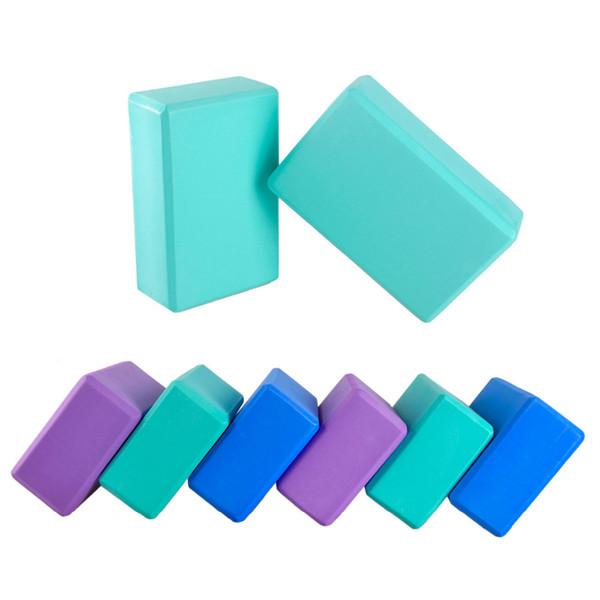 7.6 * 15 * 22.5 Blocos de Ioga de Alta-densidade EVA Blocos de Yoga Espuma Em Casa Exercício Bricks Fitness 3 cores Ginásio Ferramenta de Esporte 3 Pcs