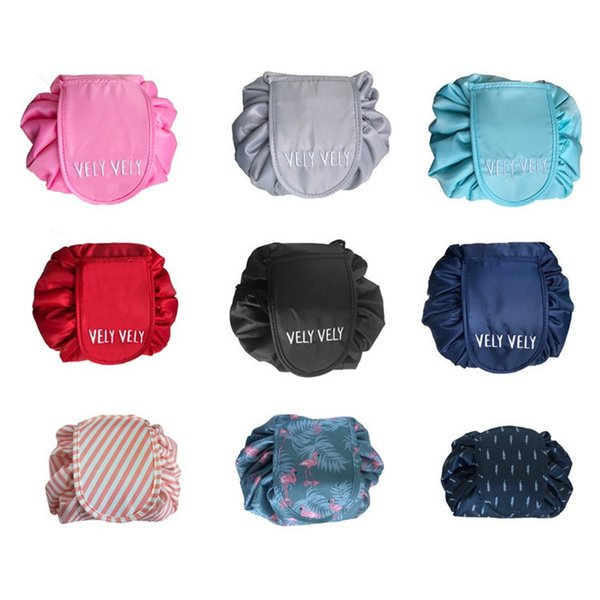 14 Colors Multi-function Drawstring Cosmetic Bag Large Capacity Portable household Storage bag Outdoor travel bag T3I0157