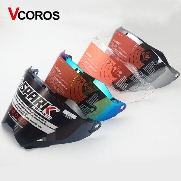 WLT 128 motorrad helm objektiv Vcoros motocross vollgesichts helm schild visiere farben klar schwarz und silber regenbogen gläser