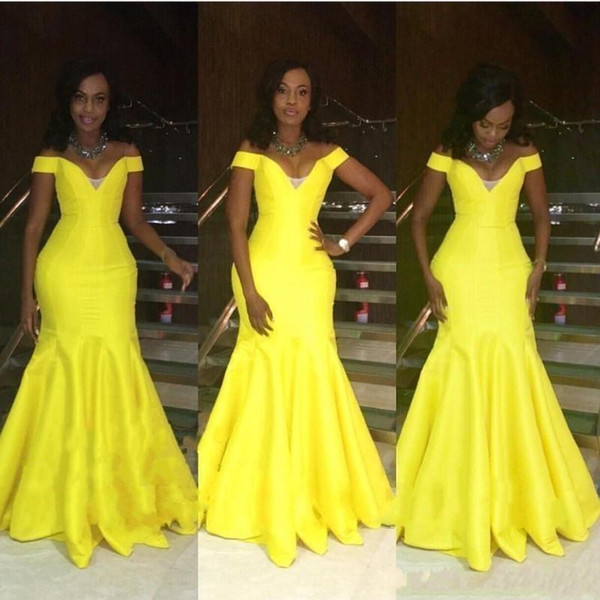 Modern and Clean Long Prom Dresses 2019 Mermaid Off Shoulder Floor Length Long Sexy African Brazil Women Party Evening Gown