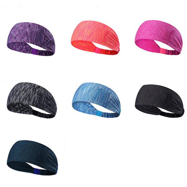 top popular Sports Running Yoga Hair Bands Quick Drying Elastic Headbands Hair Accessories Head Wear Free Shipping from jaguartee 2019