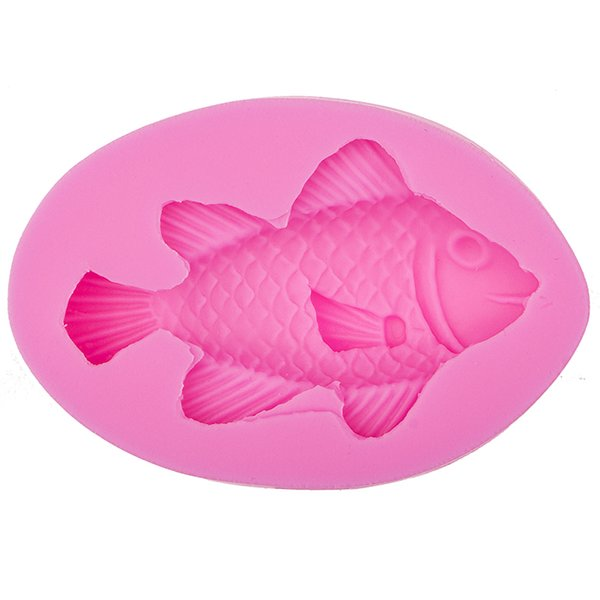 3D Marine life fish Cake Chocolate Mold for the Kitchen Baking Cake Tools DIY Sugarcraft Decoration silicone mould F0535