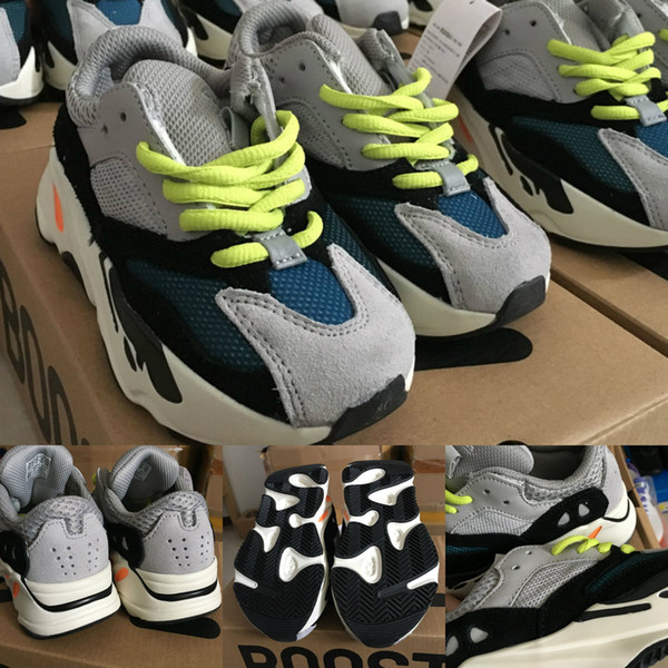 New Kids Running Shoes Kanye West Wave Runner 700 Youth Shoes Sply 700 Sports Sneakers Casual Toddler Shoe Size :28-35