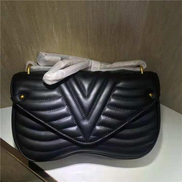 Nouveau designer de mode sac à bandoulière en cuir Marque Dame sacs à main simple vague femmes cross Body bag