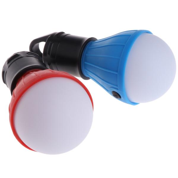 3x LED Portable Hanging Hook Emergency Lamp Camping Tent Light Outdoor Hiking Lantern