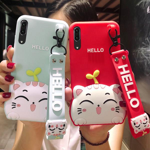 Новая мода 3D милый мультфильм Cat мягкий резиновый Силиконовый противоударный падение защиты кожи прочный бампер чехол для Huawei P10 P20 Mate 10 Honor