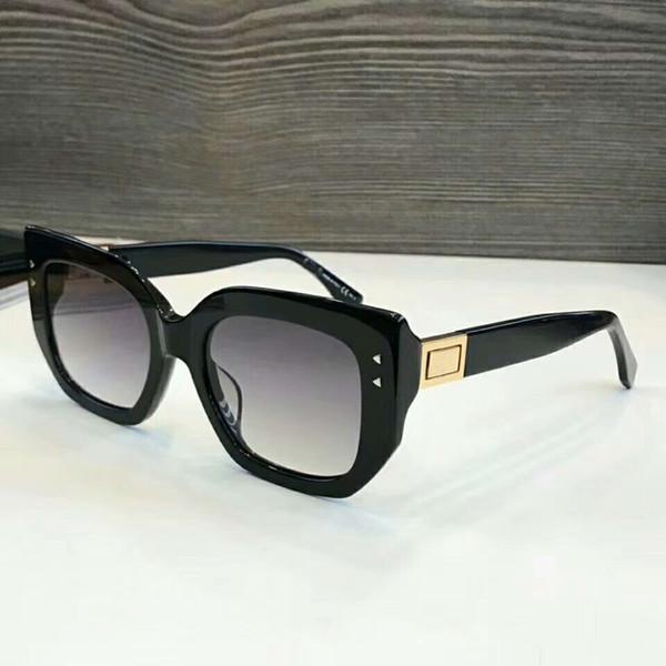 Square Ladies PEEKABOO Sunglasses 0267/S Gold/black Women Luxury designer sunglasses glasses Eyewear New with Box