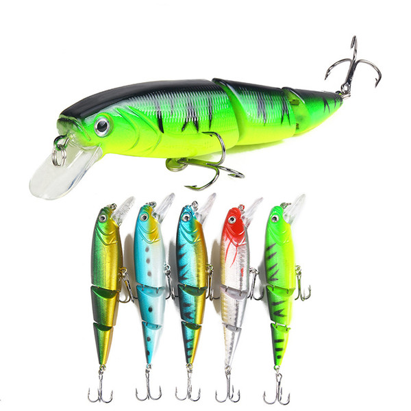Fishing Lure Artificial Simulation Bait Minnow Colorful Three-section Lures Bait 15.3g/11cm Multi-section Fake Bait Fishing Gear Wholesale