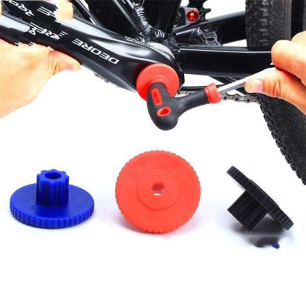 Plum Blossom Crank Cap Tool Bicicletta Hollow Wrench Installare Smontare Vite Strumenti bici Ingegneria Plastica colorata piccola 1 cc cc