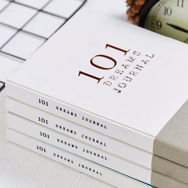 """101 Dreams"" Hard Cover Business NotJournal Blank Freenote Diary Office Supply Stationery Gift"