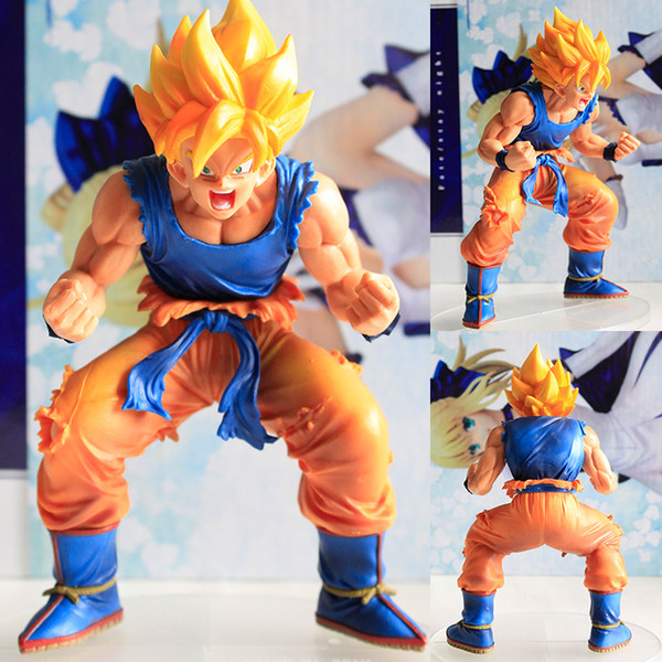 Hot 1pcs 14cm pvc Japanese sexy anime figure Dragon ball Son Goku Super Saiyan action figure collectible model toys brinquedos