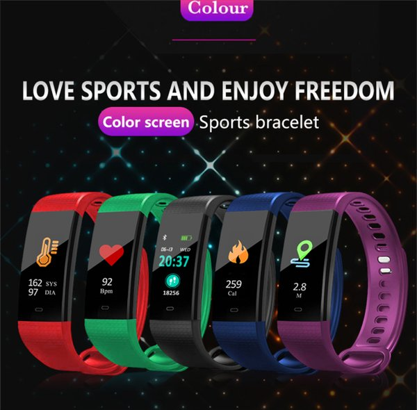Color Screen Heart Rate Smart Pedometer Fitness Watch Waterproof Bluetooth Sports Running Calorie Steps Counter Pedometer