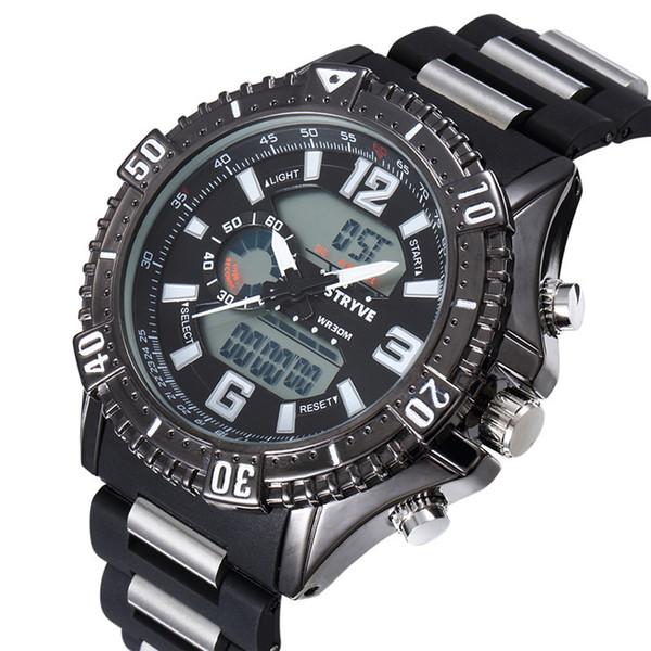 variedades anchas estilo clásico sobornar auténtico Compre Reloj De Pulsera Deportivo Heat Motion Fashion STRYVE Reloj De  Pulsera Deportivo Impermeable S8004 A911 A $30.07 Del Ruiqi08 | DHgate.Com