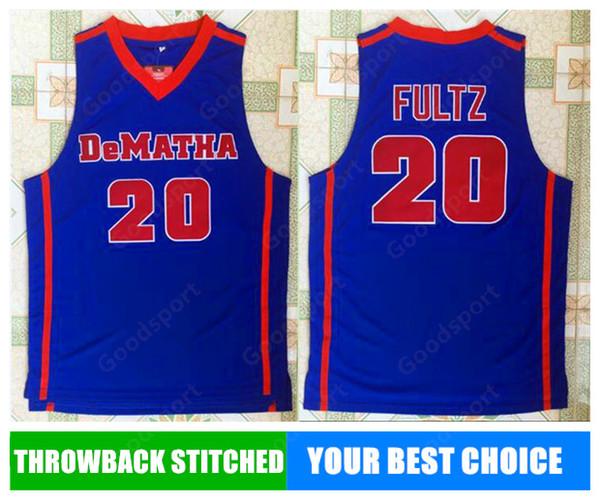 HOT DeMatha UNIVERSITY NCAA Stitched 20 Markelle Fultz Stitched embroidery Swingman jerseys Jersey SHIRTS cheap whole sport basketball