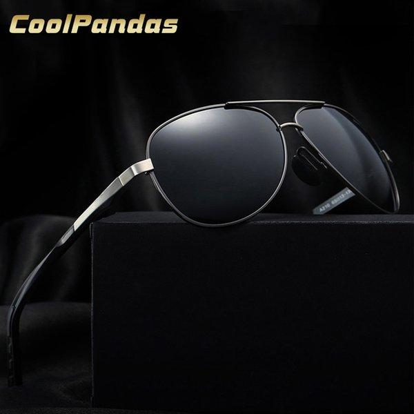 Оптовая 2018 Vintage Марка роскошные алюминиевые магния мужчины солнцезащитные очки поляризованные очки HD вождения Gafas Oculos подарок с Case