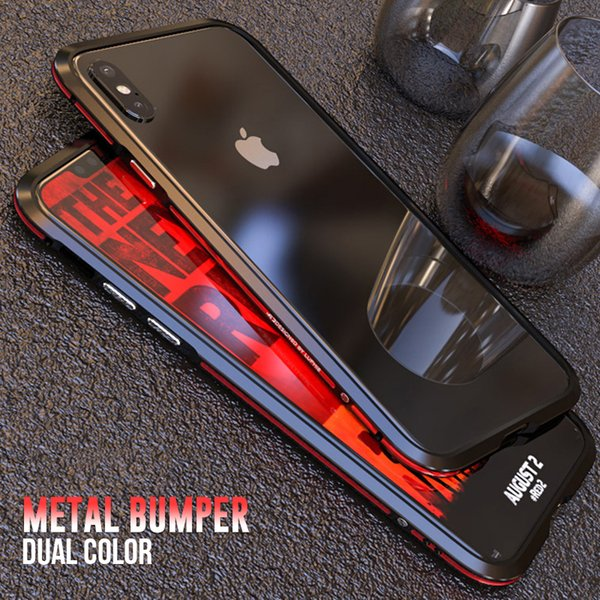 wholesale metal bumper for iphone xs max iphone x xr xs case cover Luxury dual color aluminum frame Ultra-thin Shockproof coque