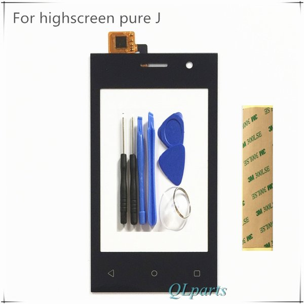 Mobile Phone Sensor Touchscreen Front Glass For Highscreen Pure J Touch Screen Panel Digitizer SmartPhone + Tools Sticker Tape