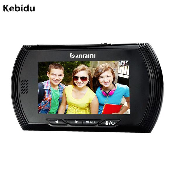 Kebidu Otomasyon Ev Aletleri HD Video Mini Kamera Akıllı Dijital Kapı Görüntüleyici Peephole Görüntüleyiciler IR Gece Görüş