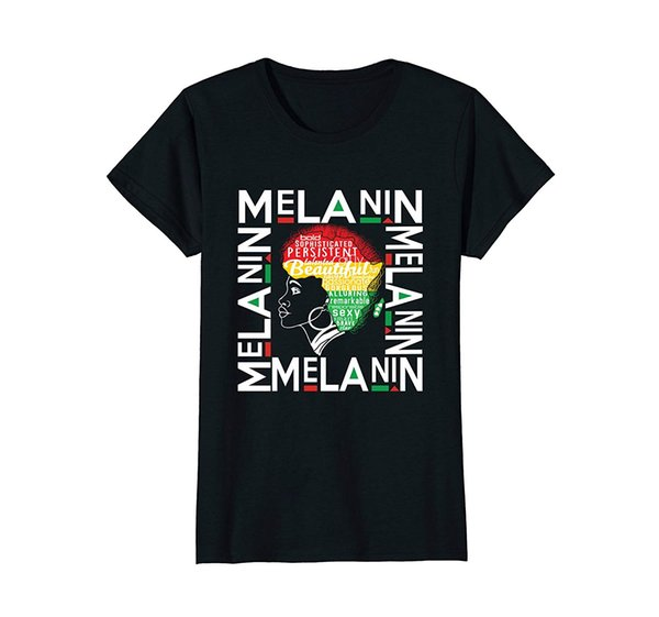 Beautiful Black Queen - Melanin Pride African Cotton Short Shirts Hipster O-Neck Sleeve Funny Print Clothing Hip-Tope Mans T-Shirt Mens T-