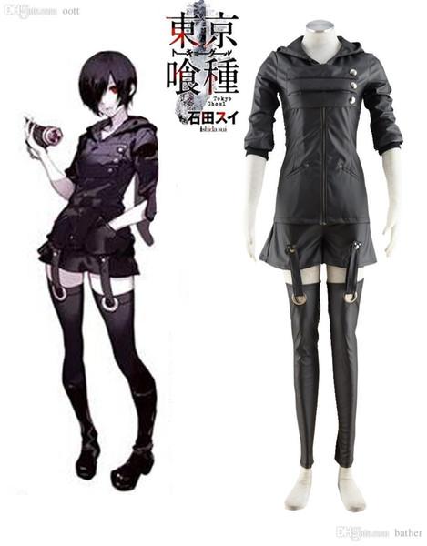 Großhandels-Tokyo Ghoul Touka Kirishima Ghouls, das Uniform Anime Cosplay Kostüm-freies Verschiffen kämpft
