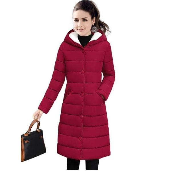 Winter Warm Female Jackets new 2018 fashion Winter Jacket women Thicken Hooded Women's down jacket Warm Winter coat Female Parka S18101505