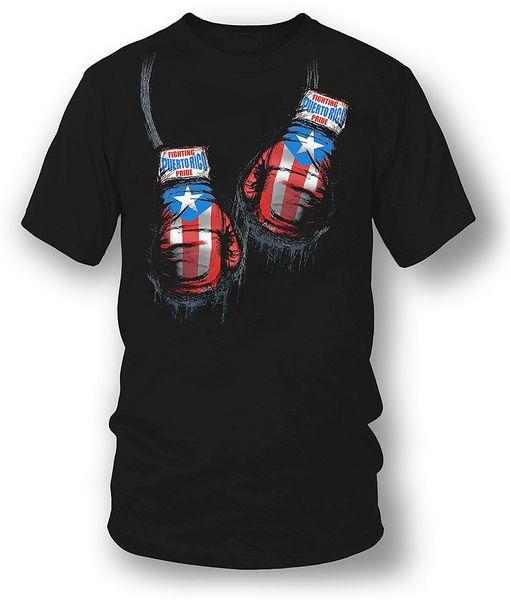 Neues lustiges Marken-Kleidungs-Puerto- Ricoboxer-Hemd, Puerto Rico Stolz-böses Metall