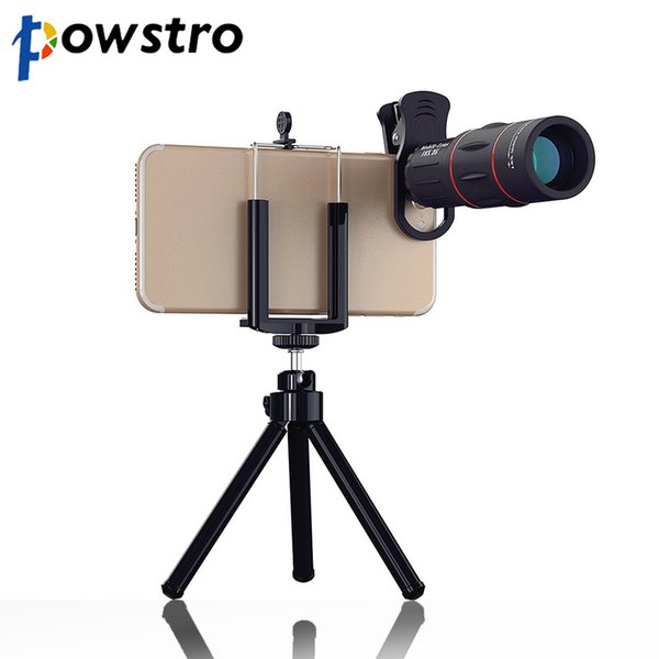 Powstro 18X 1000m/3280ft Zoom Telescope Phone Camera Lens Universal Cell Phone Outdoor Telescope Mobile Lens with TrClip