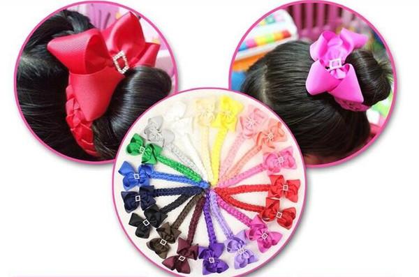 20pcs boutique Updo hair Bun wraps hair bows clips Head Wrap Hair band Headbands for girl women headwear Hairwear accessories PD020