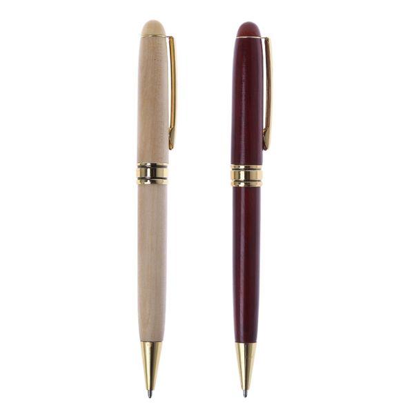 ZHUTING High Quality Wood Ballpiont Pen Handmade Twist Wood Ballpoint Pen School Student Stationary Office Writing Tool