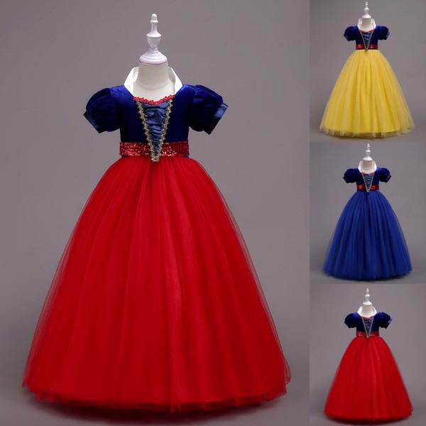 Snow White Dress Princesse Bébé Enfants Fille Party Dress Cosplay Costume Enfants Vêtements