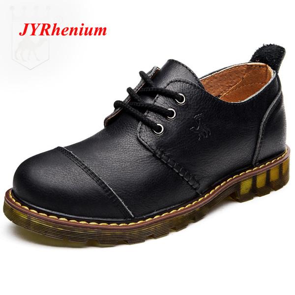 JYRhenium  Design Men's Dress Suit Shoes Men Formal Business Footwear Round-Toe Leather Oxford Shoes For Office Work 38-44