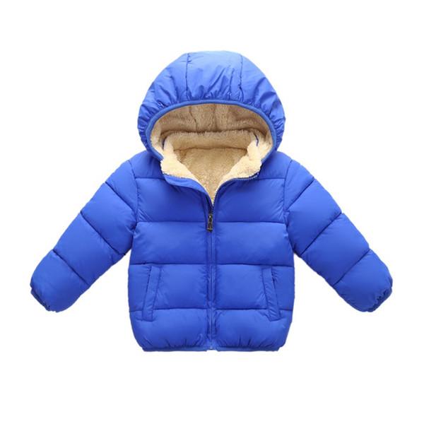 Enfants hiver veste chaude enfants plus manteau de coton de velours bambin filles garçons solide vêtements d'extérieur vêtements pour enfants
