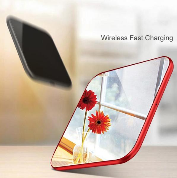 Spiegel Wireless-Ladegerät für iPhone X 8 Plus Schnellladung für Samsung S9 Note 8 Handy-Ladegerät 10W QI Wireless-Ladegerät