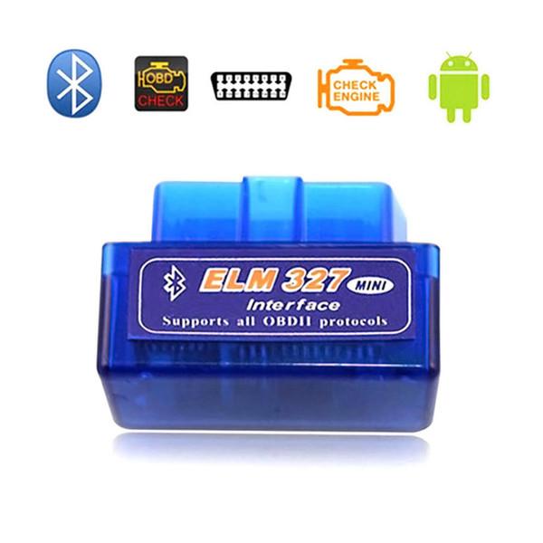 Diagnostic scanner for car automotivo escaner automotriz Mini V2.1 ELM327 OBD2 Bluetooth Interface Auto Car Scanner DHL Free Shipping