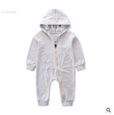 Baby Onesies unisex Jungen Mädchen Strampler Overall Herbst Winter Langarm mit Kapuze Strampler Overall Baby Outfits Neugeborenes Baby Kleidung 0-3Y