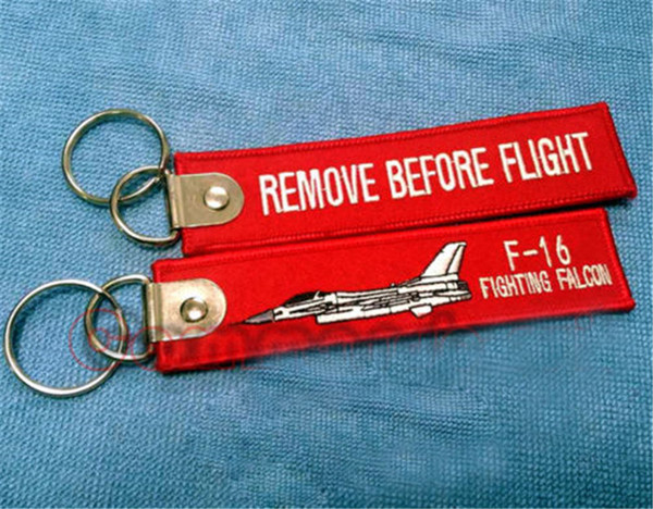 F-16 Fighting Falcon Retire Before Flight Keychain Llaveros Etiquetas Colección Halloween Cosplay llavero Regalo de Navidad