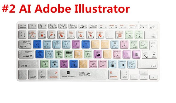 For A1278  Premiere Pro Final Cut Pro X AI PS Shortcut Keyboard Skin Cover For IPhone iMac,Macbook Pro  15 KC