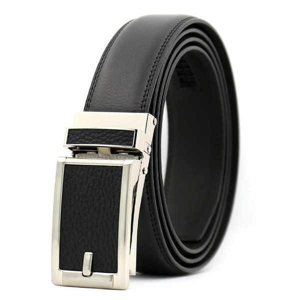 KAWEIDA 2018 new fashion Leather surface Double layer Automatic buckle genuine leather belt for male Luxury belt for men 110-130