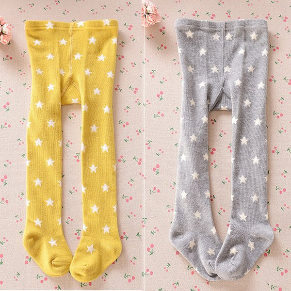 2018 New Fashion Winter Baby Kids Girl Tights Stars Printed Stockings Cotton Knitted Warm Pantyhose Children Tights Leg Warmers