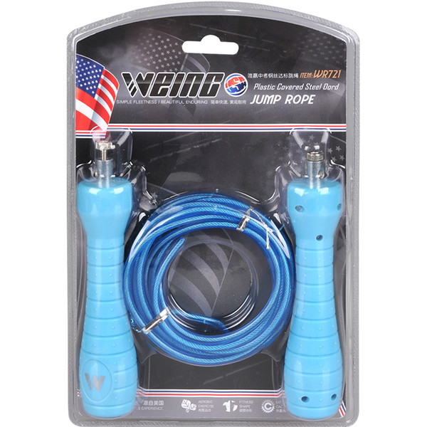 Weing Steel Cable Wire Speed Jump Rope Skipping Sports Fitness Rope with Package